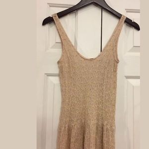 Anthropologie Free People Dress/Slip XS 100% Silk